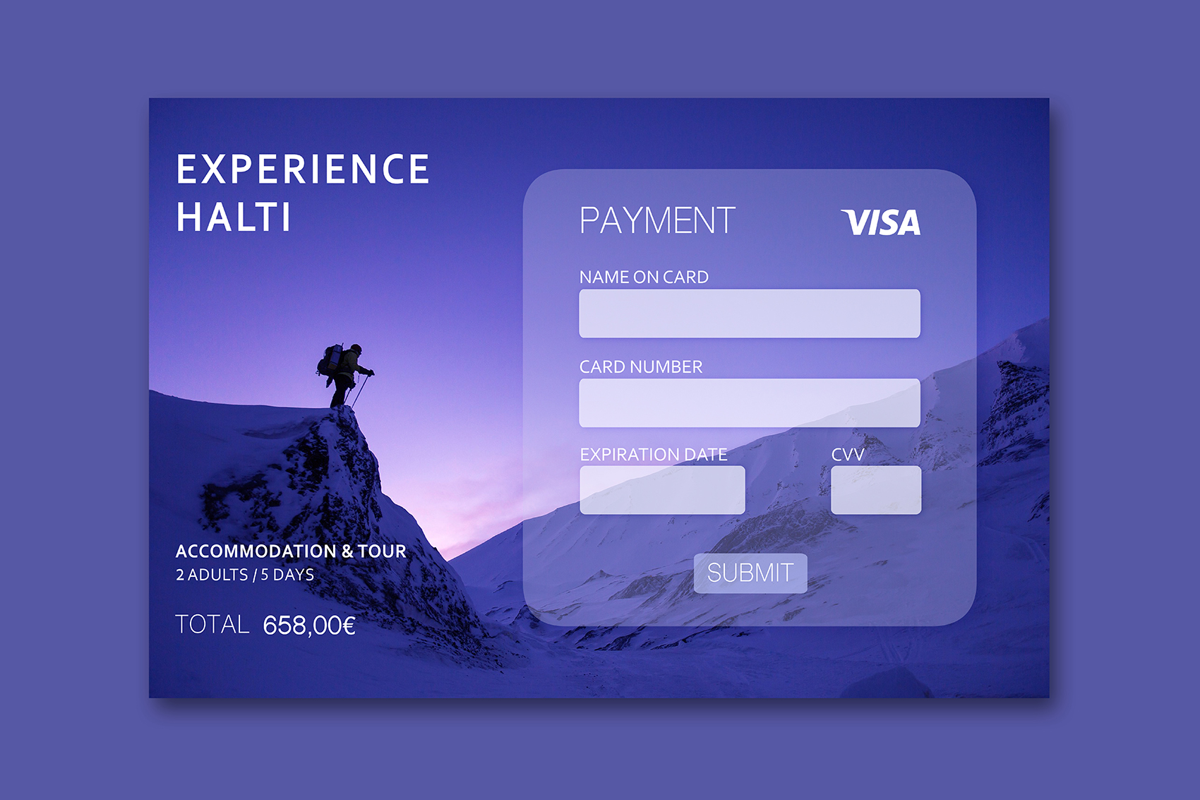 Credit Payment Page