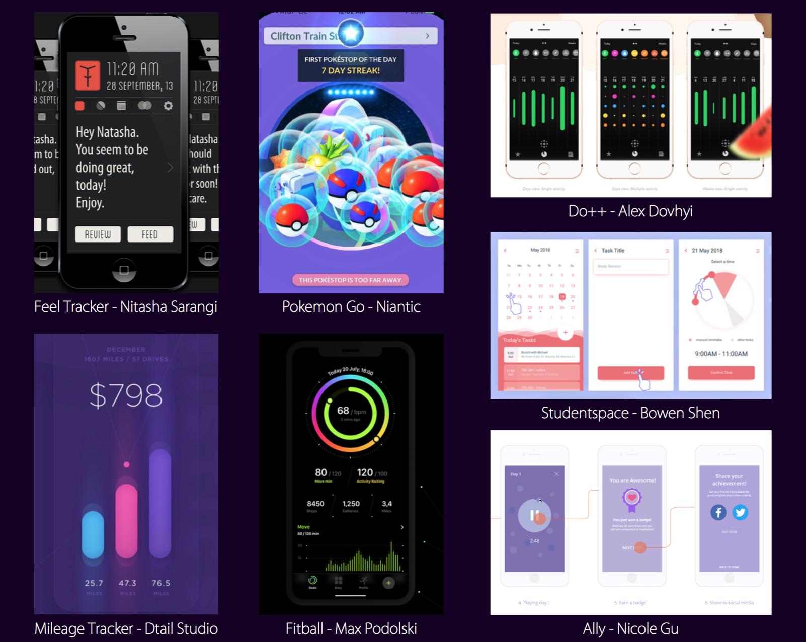 Tracking App Inspiration